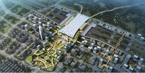 重庆东站铁路综合交通枢纽骨架道路开工,将建3条对外骨架道路